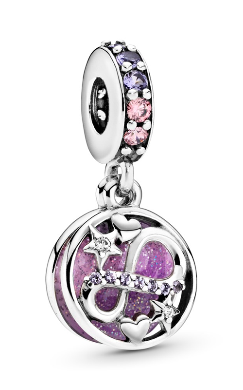 Pandora Glittering Infinity Hearts & Stars Dangle Charm 798829C01 product image