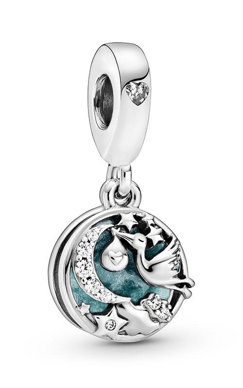 Pandora Stork & Twinkling Stars Dangle Charm 798895C01 product image