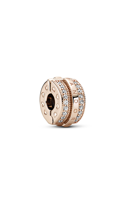Pandora Rose™ Sparkling Pave Lines & Logo Clip Charm, Clear CZ 789042C01 product image