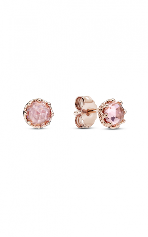 Pandora Rose Pink Sparkling Crown Stud Earrings 288311C01 product image