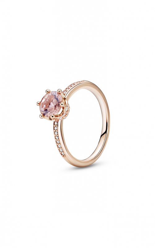 Pandora Rose Pink Sparkling Crown Solitaire Fashion Ring 188289C01-50 product image