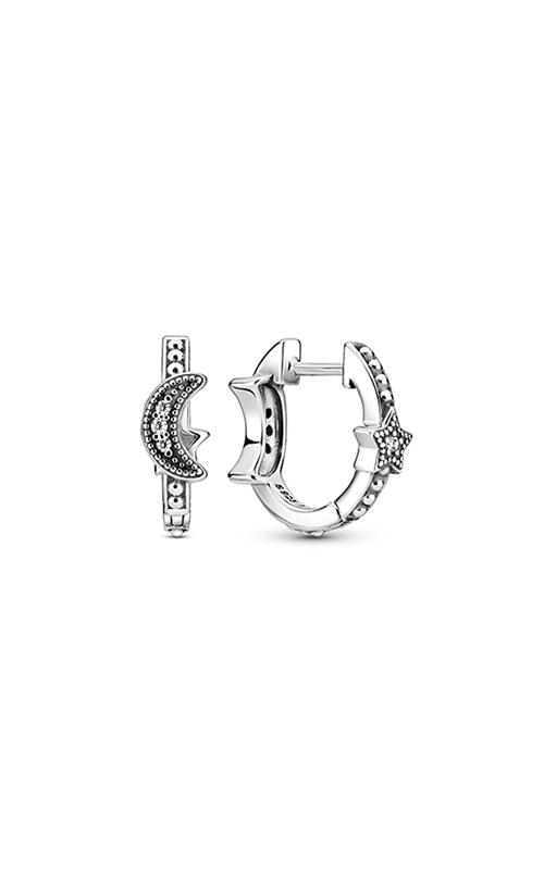 Pandora Crescent Moon & Stars Beaded Hoop Earrings 299152C01 product image