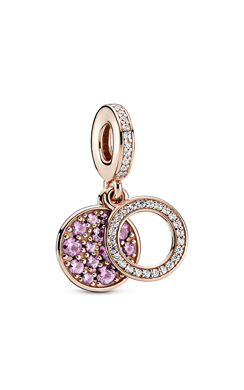 Pandora Sparkling Pink Disc Double Dangle Charm 789186C02 product image
