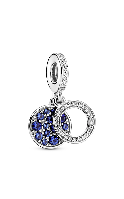 Pandora Sparkling Blue Disc Double Dangle Charm 799186C01 product image