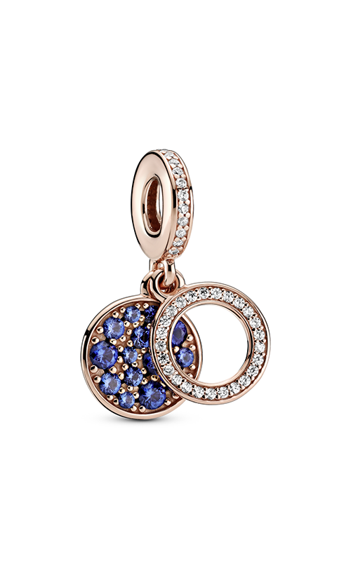 Pandora Sparkling Blue Disc Double Dangle Charm 789186C01 product image