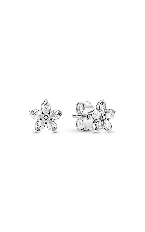 Pandora Sparkling Snowflake, Clear CZ Earrings 299239C01 product image