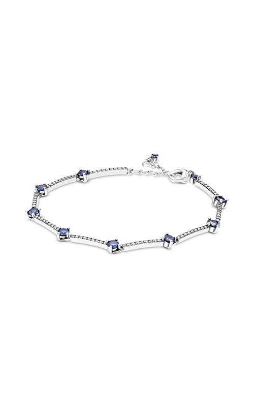Pandora Sparkling Pave Bars Bracelet, Blue Crystal & Clear CZ 599217C01-16 product image