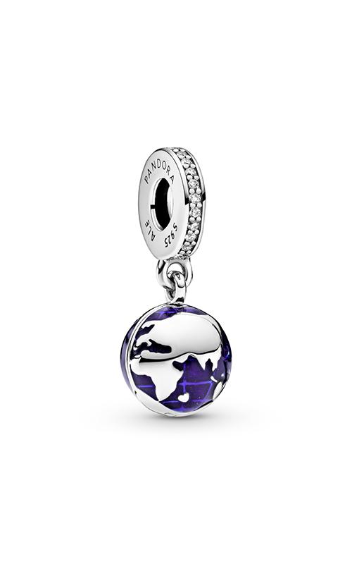 Pandora Our Blue Planet, Blue Enamel & Clear CZ Dangle Charm 798774C01 product image