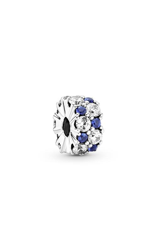 Pandora Clear & Blue Sparkling Clip, Blue Crystal & Clear CZ 799171C01 product image