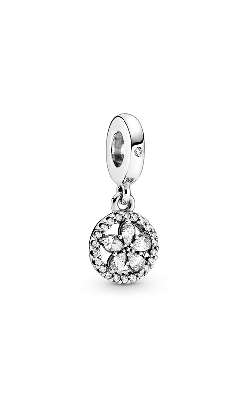 Pandora Sparkling Snowflake Circle, Clear CZ Dangle Charm 799222C01 product image