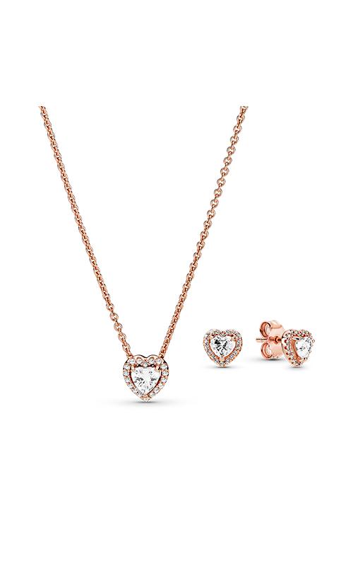 Pandora Rose Sparkling Elevated Heart Jewelry Gift Set B801482-45 product image