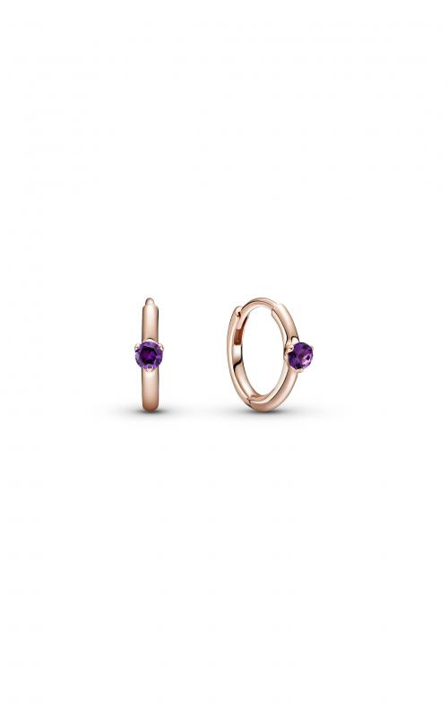 Pandora Colours Purple Solitaire Huggie Hoop Earrings 289304C01 product image