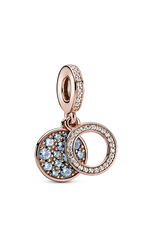 Pandora Colours Sparkling Light Blue Disc Double Dangle Charm 789186C03 product image