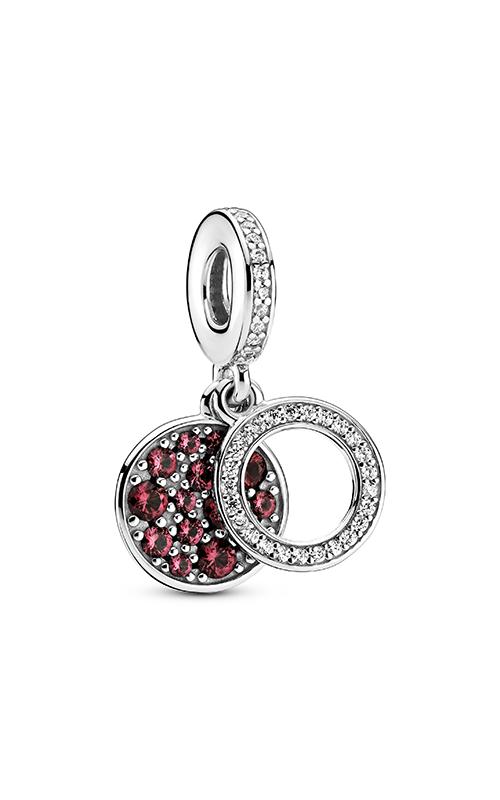 Pandora Colours Sparkling Red Disc Double Dangle Charm 799186C03 product image