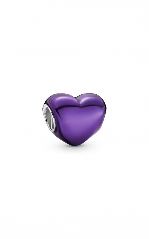 Pandora Colours Metallic Purple Heart Charm 799291C01 product image