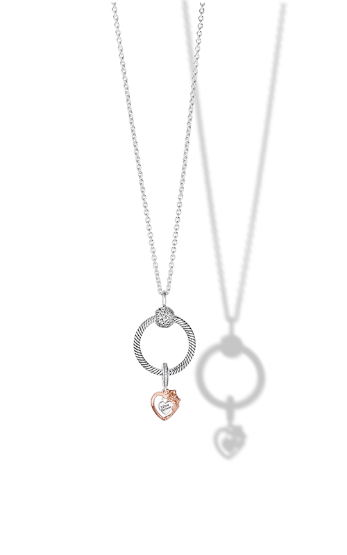 Pandora Icons Heart & Rose Flower Pandora O Pendant Gift Set B801507-60