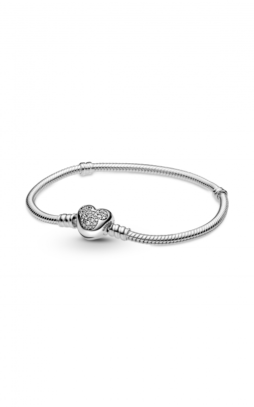 Pandora Disney Moments Mickey Mouse Heart Clasp Snake Chain Bracelet 599299C01-17 product image