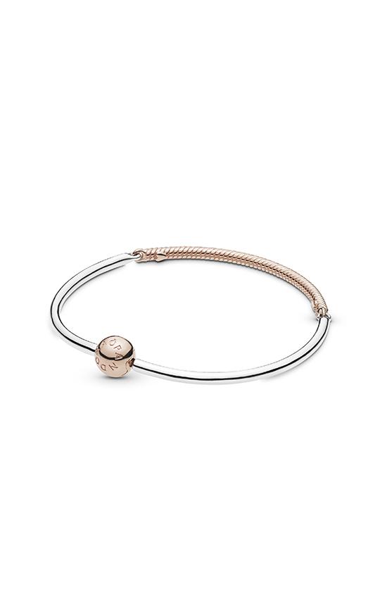 classic fit dirt cheap super cute Browse Moments Three-Link PANDORA Rose™ Bangle Bracelet 588143-17 ...