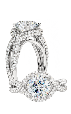 Peter Storm Halo Engagement Ring WS156WD product image