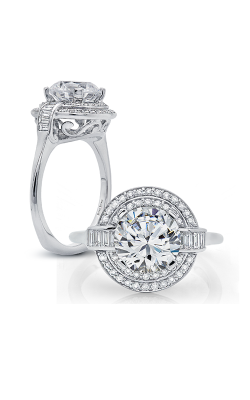 Peter Storm Diverse Halo Engagement Ring WS181_4DiaW product image