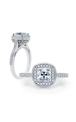 Peter Storm Diverse Halo Engagement ring WS286 4DiaW SQ product image