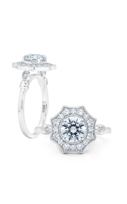 Peter Storm Diverse Halo Engagement Ring WS347_4DiaW product image