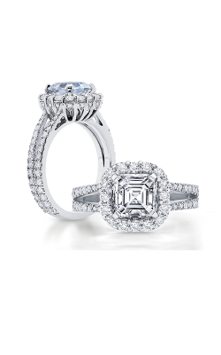 Peter Storm Naked Diamonds Engagement ring WS059 4DiaW Sq product image