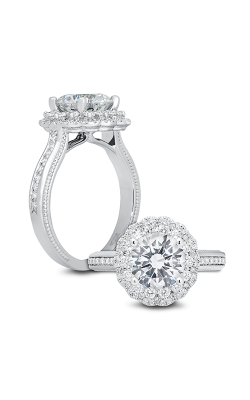 Peter Storm Large Center Halo Engagement ring WS446 4DiaW product image