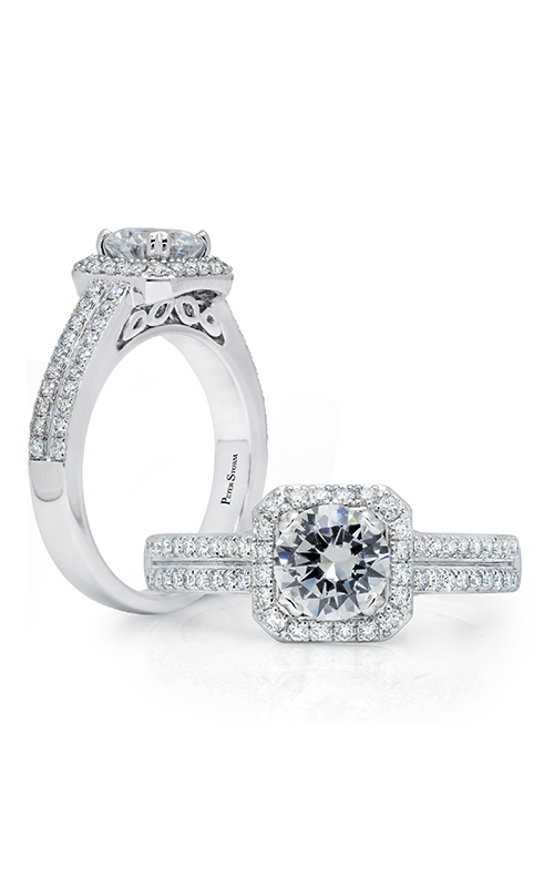 Peter Storm Halo Engagement ring WS514WD product image