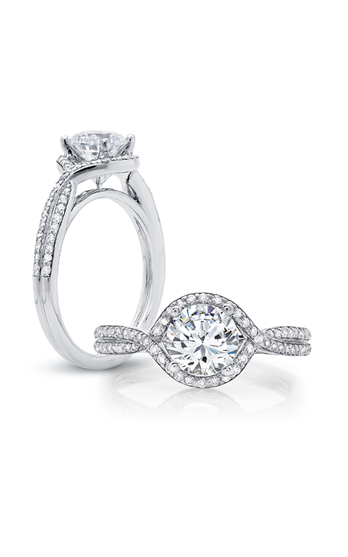 Peter Storm Diverse Halo Engagement ring WS158_4DiaW product image