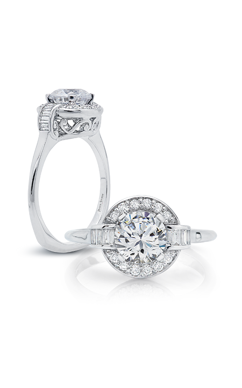 Peter Storm Diverse Halo Engagement ring WS182_4DiaW product image