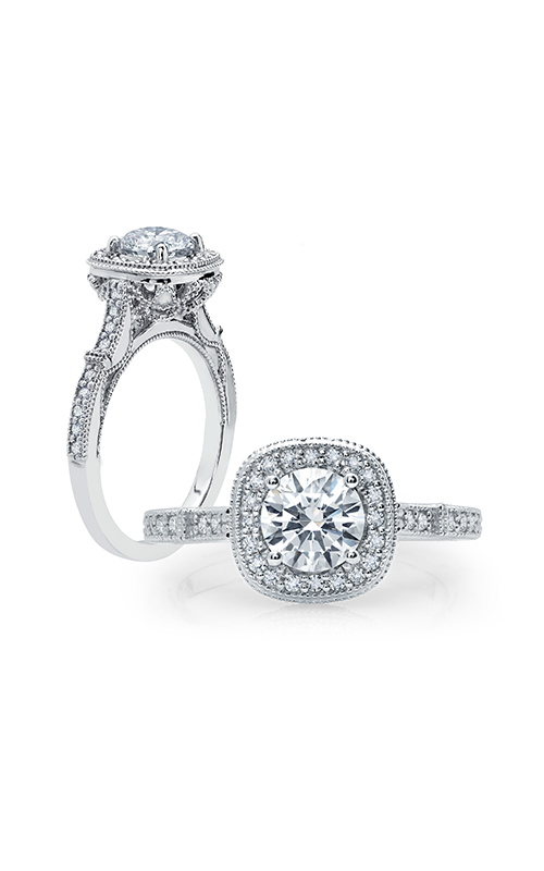 Peter Storm Diverse Halo Engagement ring WS285_4DiaW product image