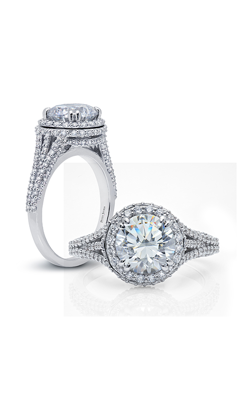 Peter Storm Diverse Halo Engagement ring WS310_4DiaW product image