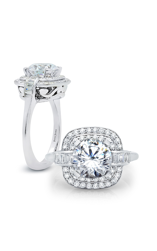 Peter Storm Diverse Halo Engagement ring WS320_4DiaW product image