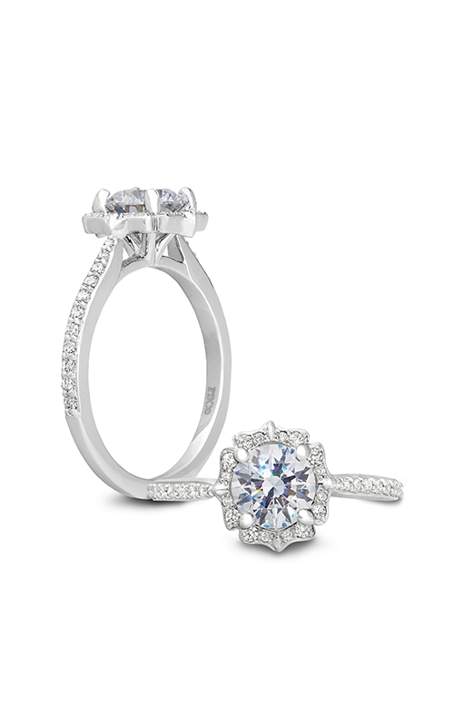 Peter Storm Diverse Halo Engagement ring WS419_4DiaW product image