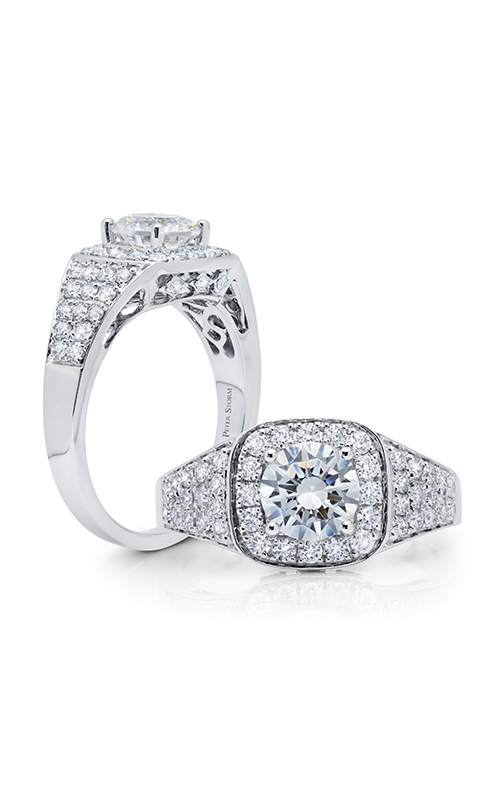 Peter Storm Diverse Halo Engagement ring WS512_4DiaW product image