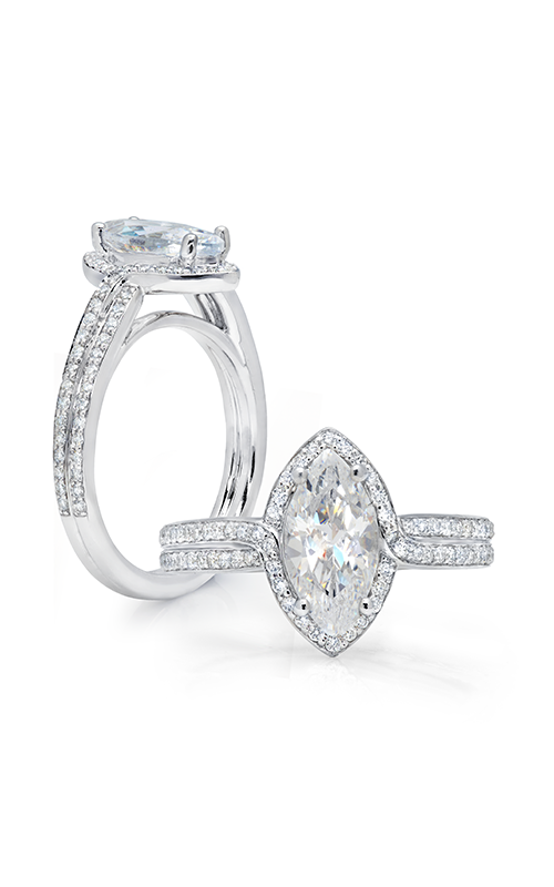 Peter Storm Diverse Halo Engagement ring WS158_4DiaW MQ product image