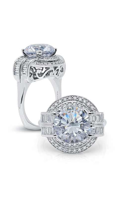 Peter Storm Large Center Halo Engagement ring WS179_4DiaW product image