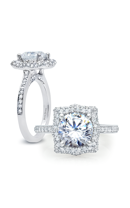 Peter Storm Large Center Halo Engagement ring WS313_4DiaW product image