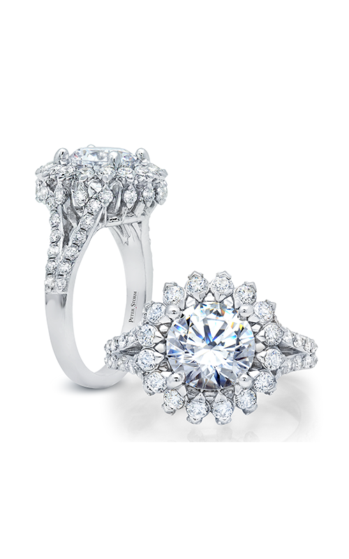Peter Storm Large Center Halo Engagement ring WS315_4DiaW product image