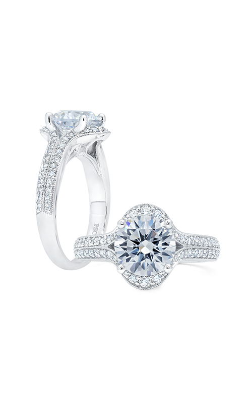Peter Storm Large Center Halo Engagement ring WS375_4DiaW product image