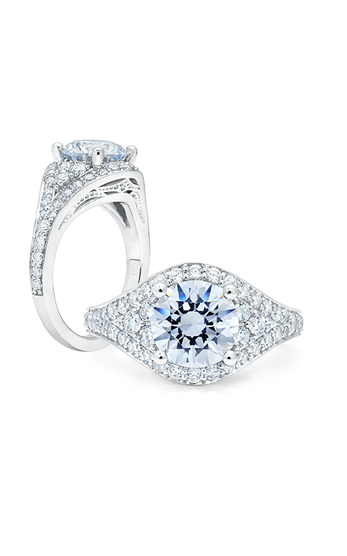 Peter Storm Large Center Halo Engagement ring WS380_4DiaW product image