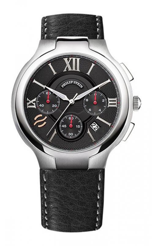 Philip Stein Round Chronograph Watch 45 Crbk Product Image