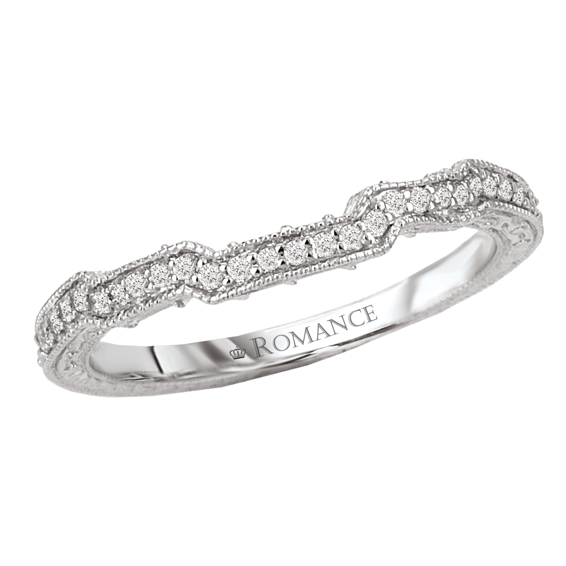 Romantic Bands: Romance Wedding Bands 118209-W
