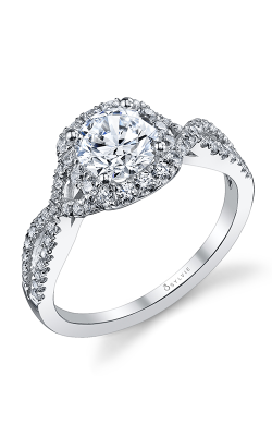 Sylvie Halo Engagement ring, S1078-45A8W10RC product image