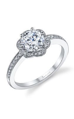 Sylvie Halo Engagement ring, S1085-020A8W10R product image