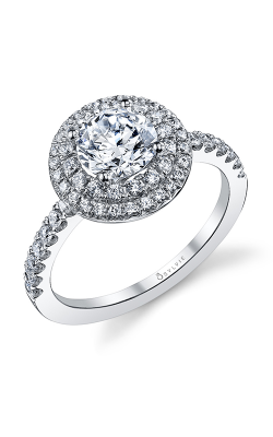 Sylvie Halo Engagement ring, S1086-051A8W10R product image