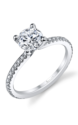 Sylvie Sidestone Engagement Ring S1093-021A8W10R product image