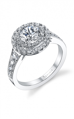 Sylvie Halo Engagement Ring S1119-088A8W10R product image