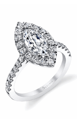 Sylvie Halo Engagement Ring S1199-083A8W15M product image